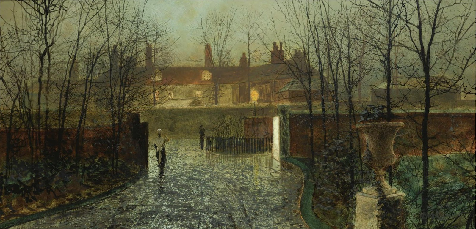 Atkinson Grimshaw, Arriving at the Hall