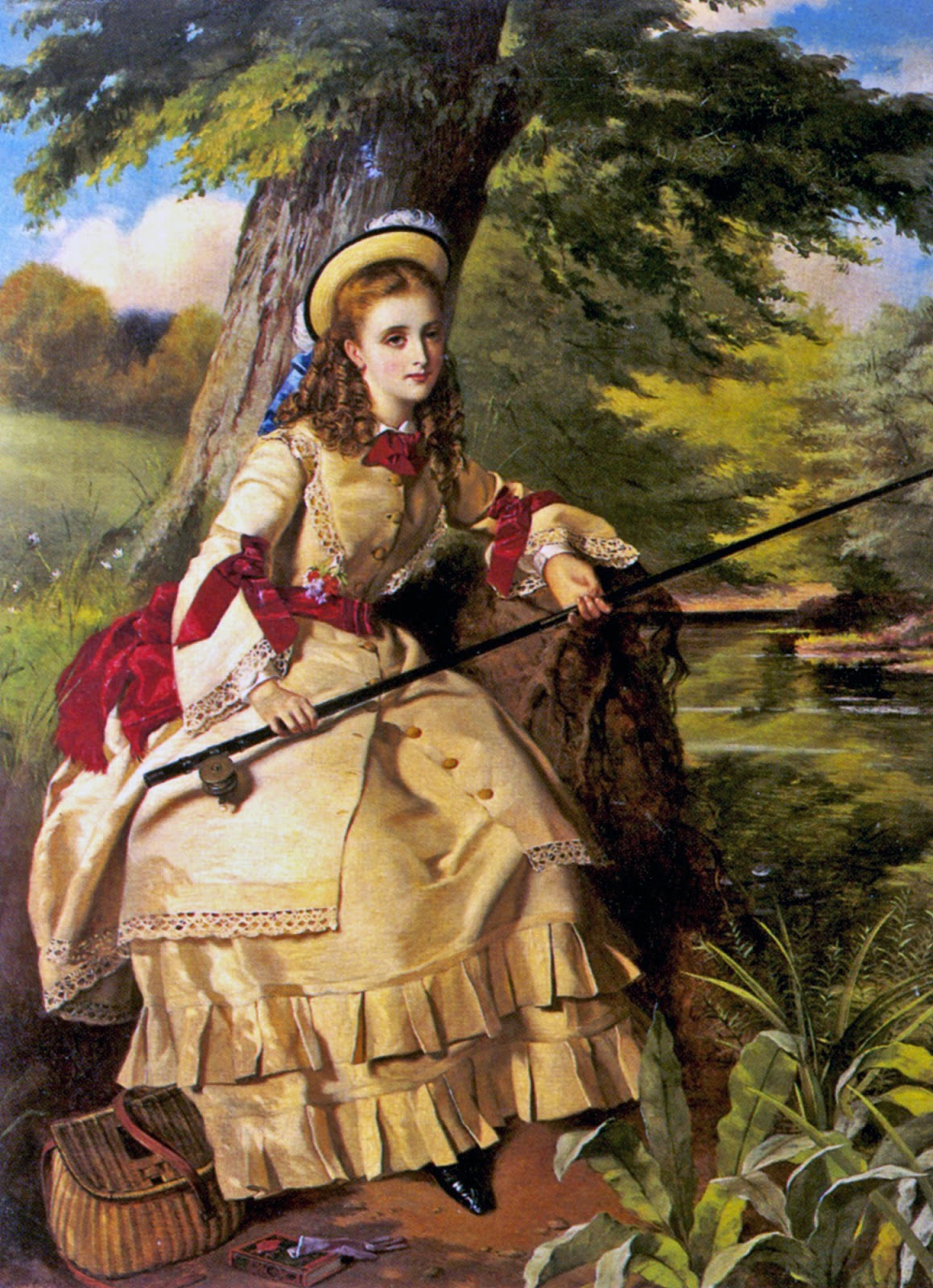 William Maw Egley, A Young Lady Fishing