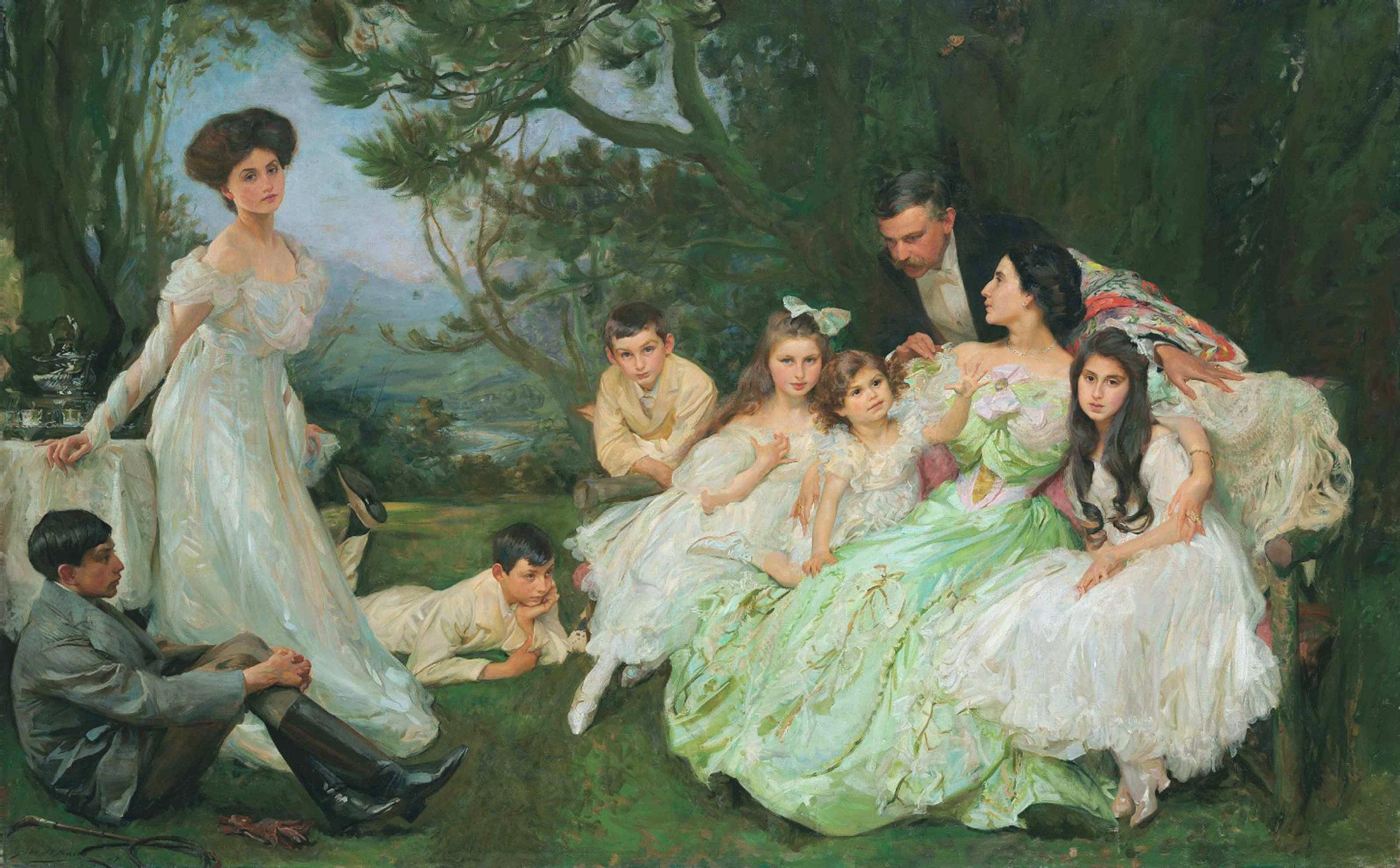 John Henry Frederick Bacon, The Golden Butterfly, The Harvey Family