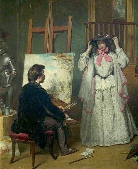 William Powell Frith - The Artist's Model