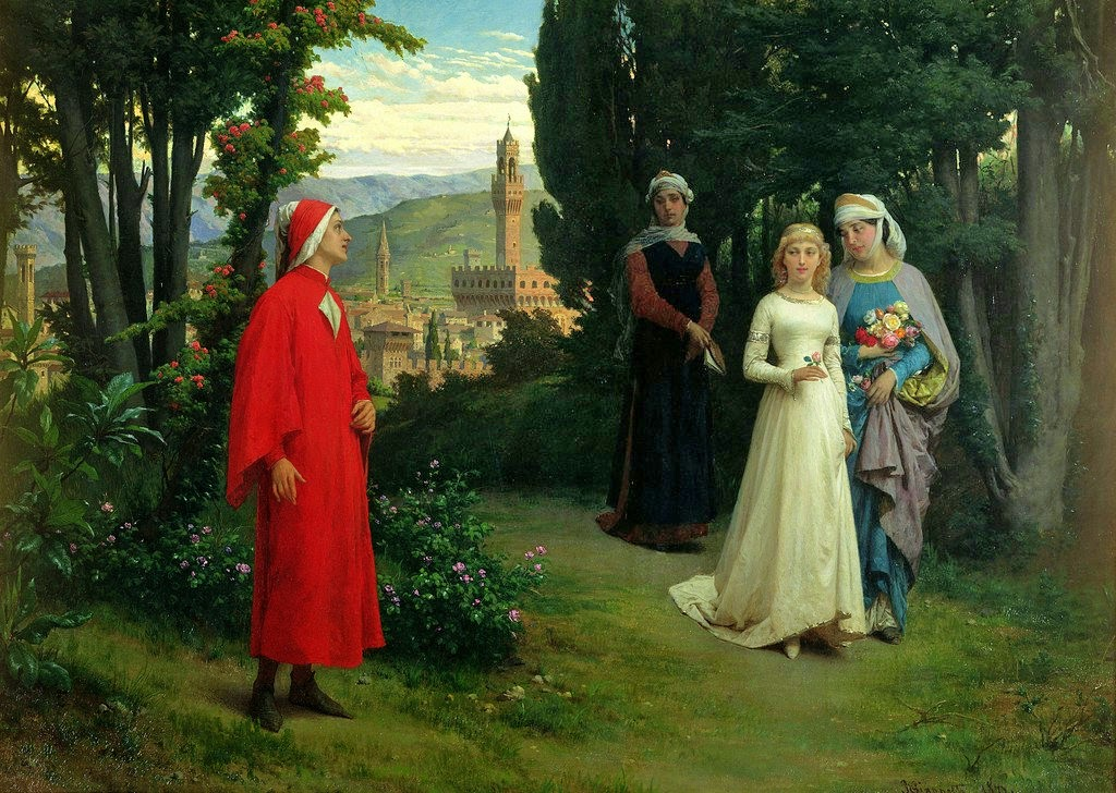 Henry Holiday, First Meeting of Dante and Beatrice