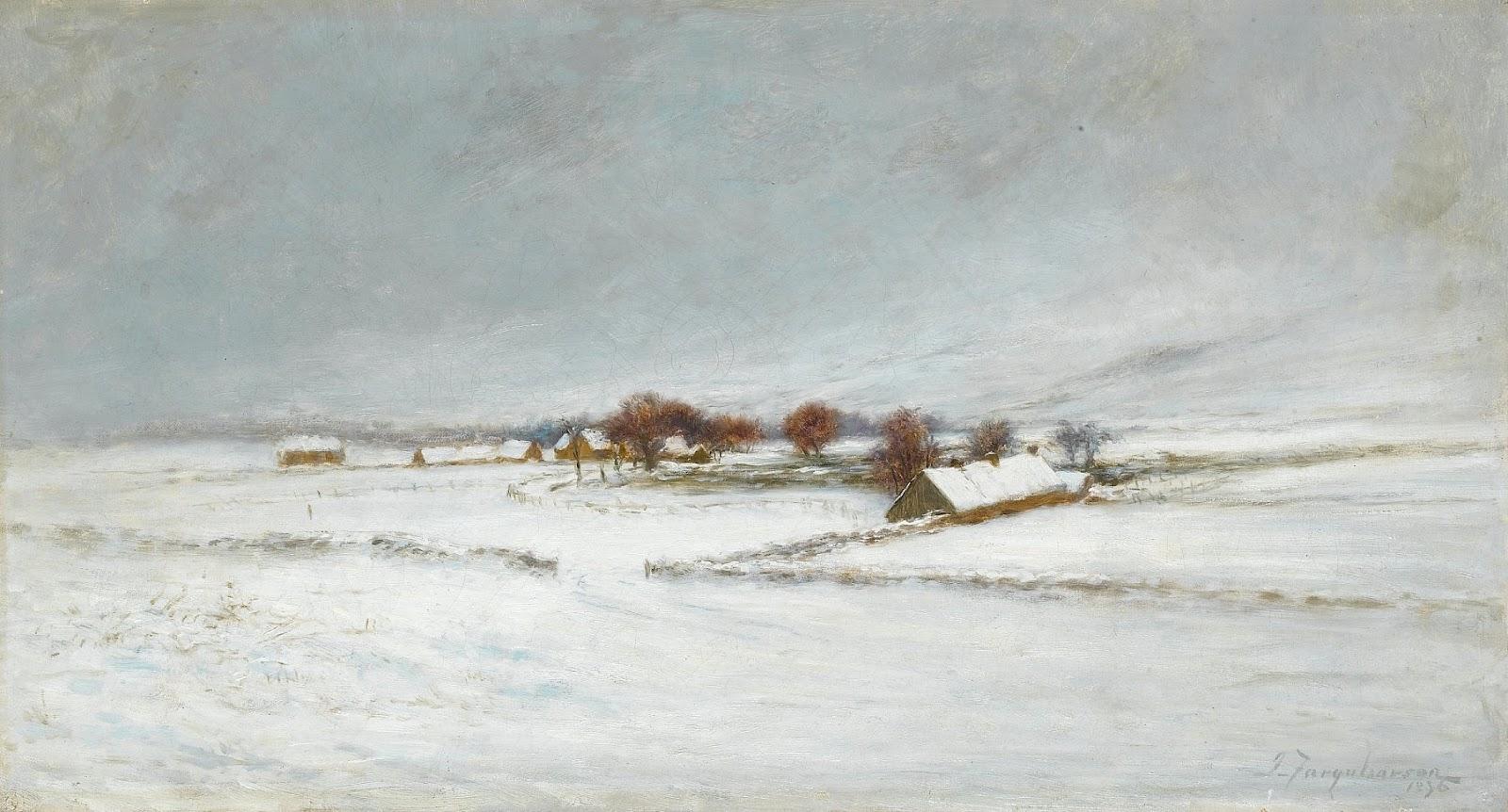 Joseph Farquharson, An Aberdeenshire Farm Under Snow