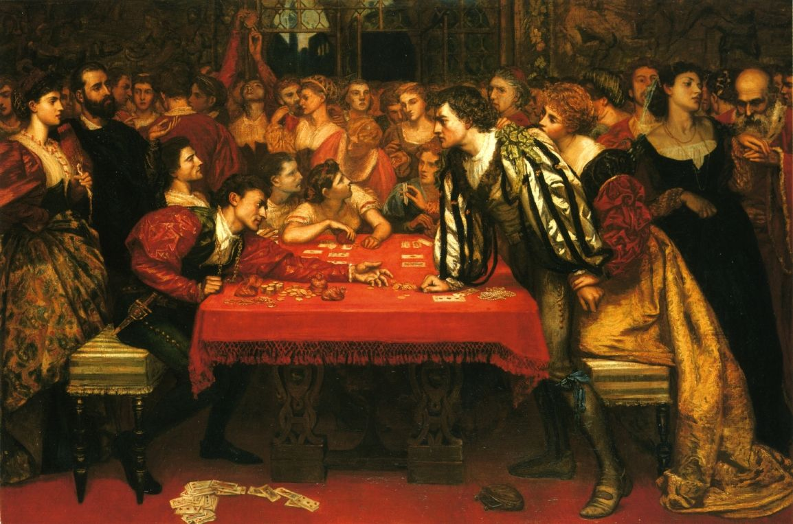 Valentine Cameron Prinsep, A Venetian Gaming-House in the Sixteenth Century