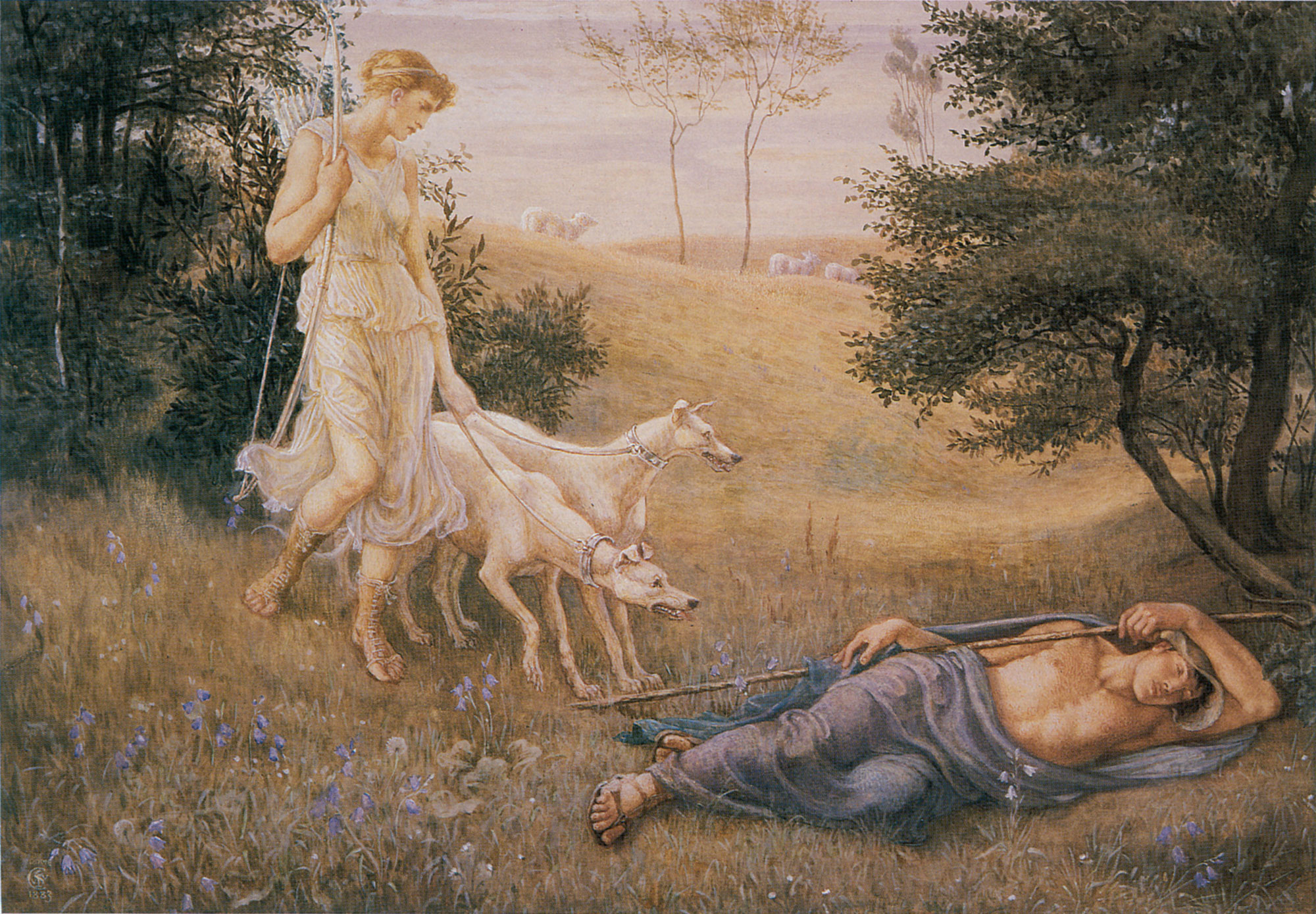 Walter Crane, Diana and Endymion