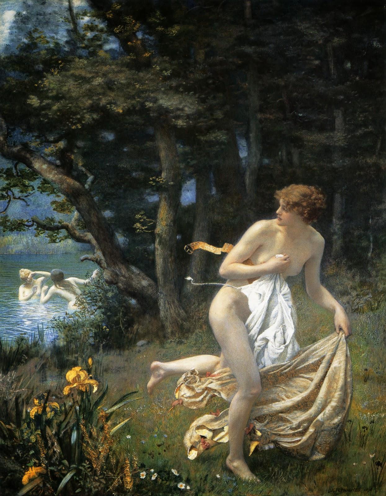 Edward Robert Hughes, Diana's Maidens
