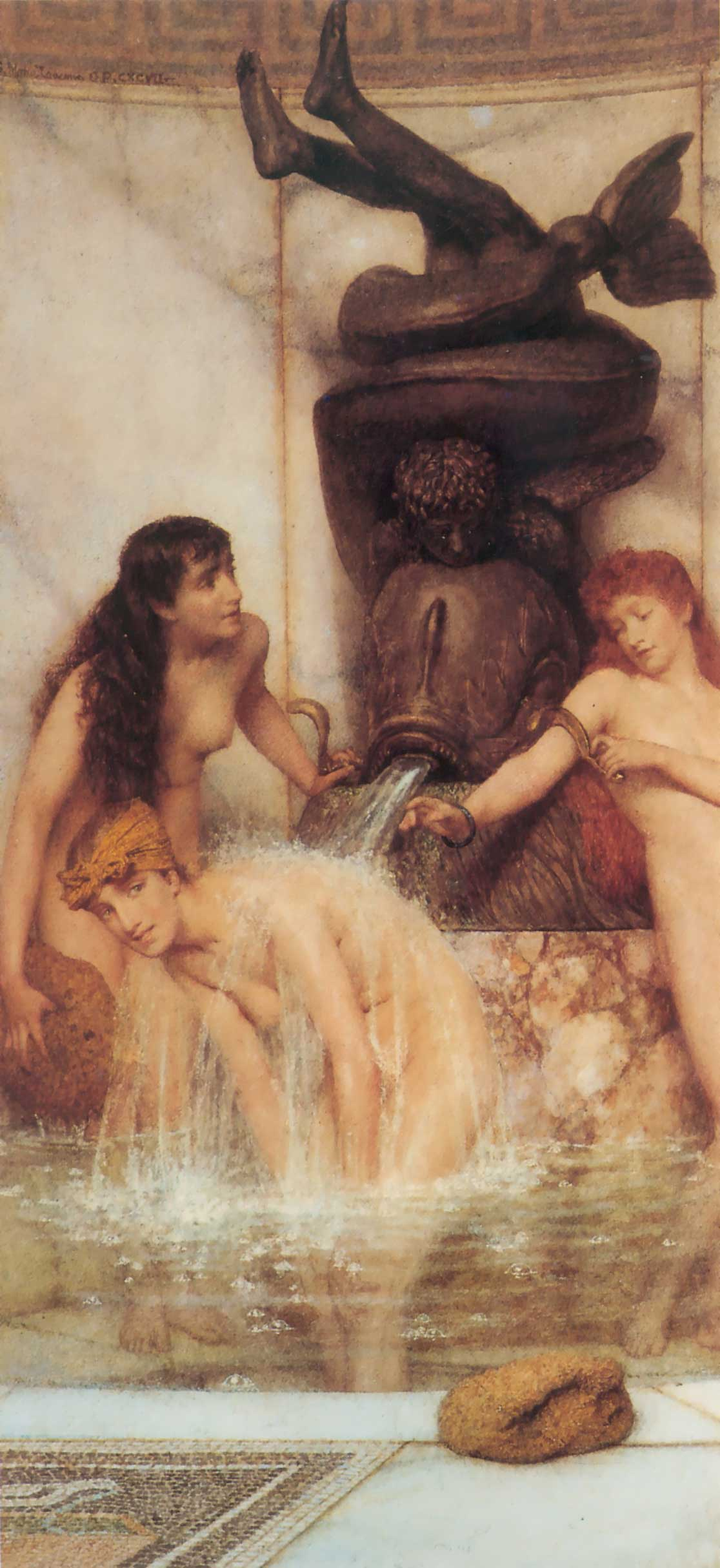 Sir Lawrence Alma Tadema, Strigils and Sponges