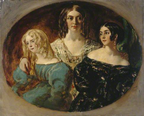 William Etty, The Hon. Mrs. Caroline Norton and Her Sisters (Caroline is probably the one on the right)