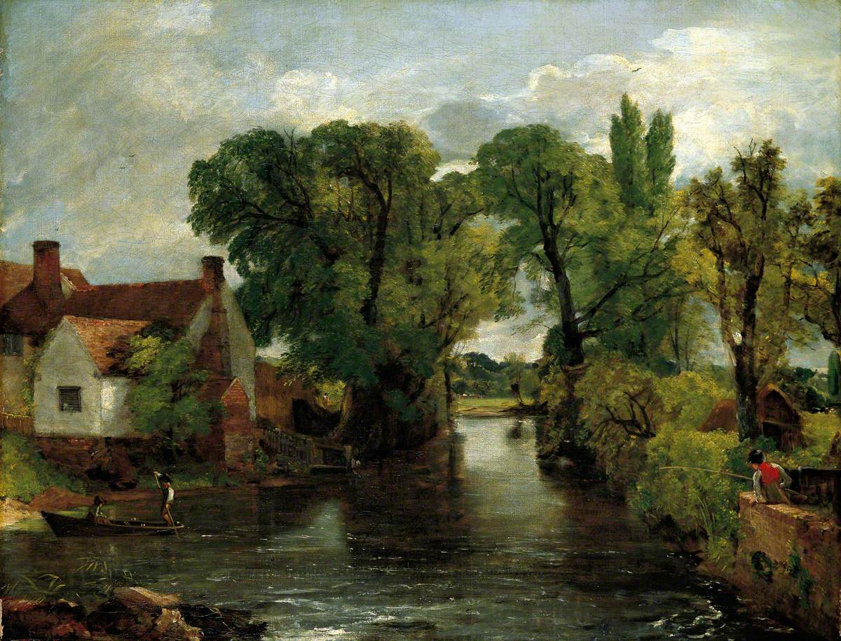 John Constable, The Mill Stream, Willy Lott's House
