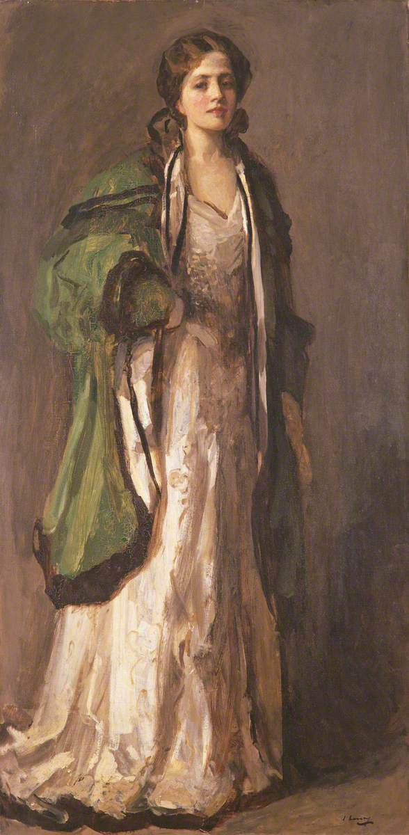 John Lavery, Portrait of a Lady in a Green Coat
