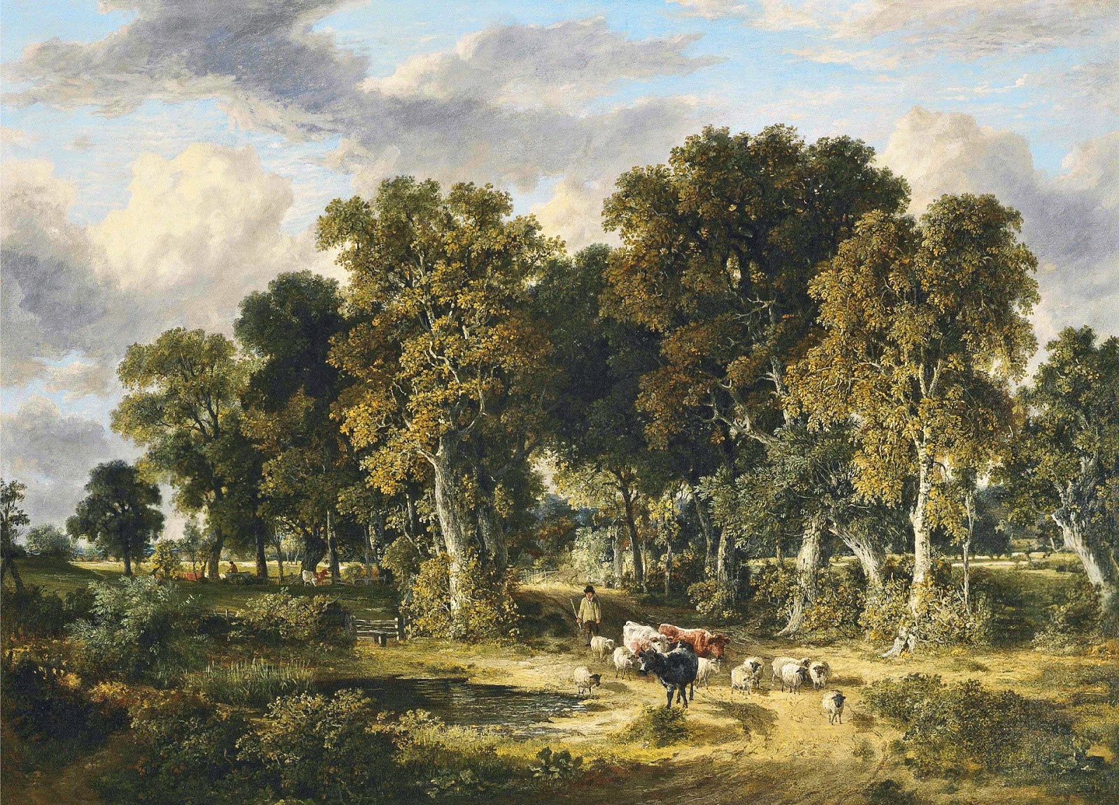 James Stark, Drover with Cattle and Sheep