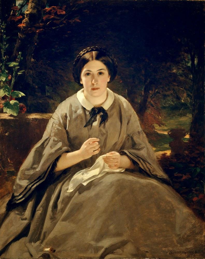 Sir Daniel McNee, A Lady in Grey Prints