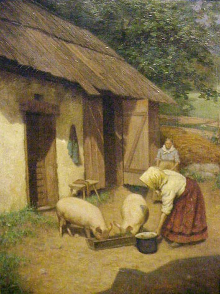 Stanhope Alexander Forbes, Feeding the Pigs
