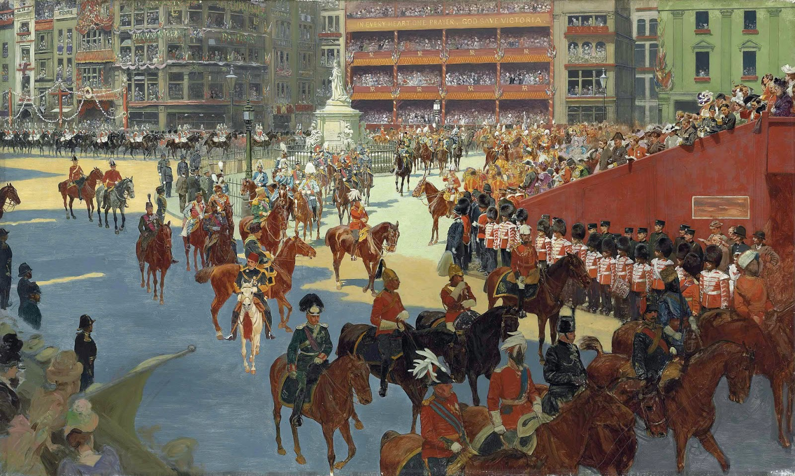John Charlton - 'God save the Queen' - Queen Victoria arriving at St Paul's Cathedral on the Occasion of the Diamond Jubilee Thanksgiving Service, 22 June 1897