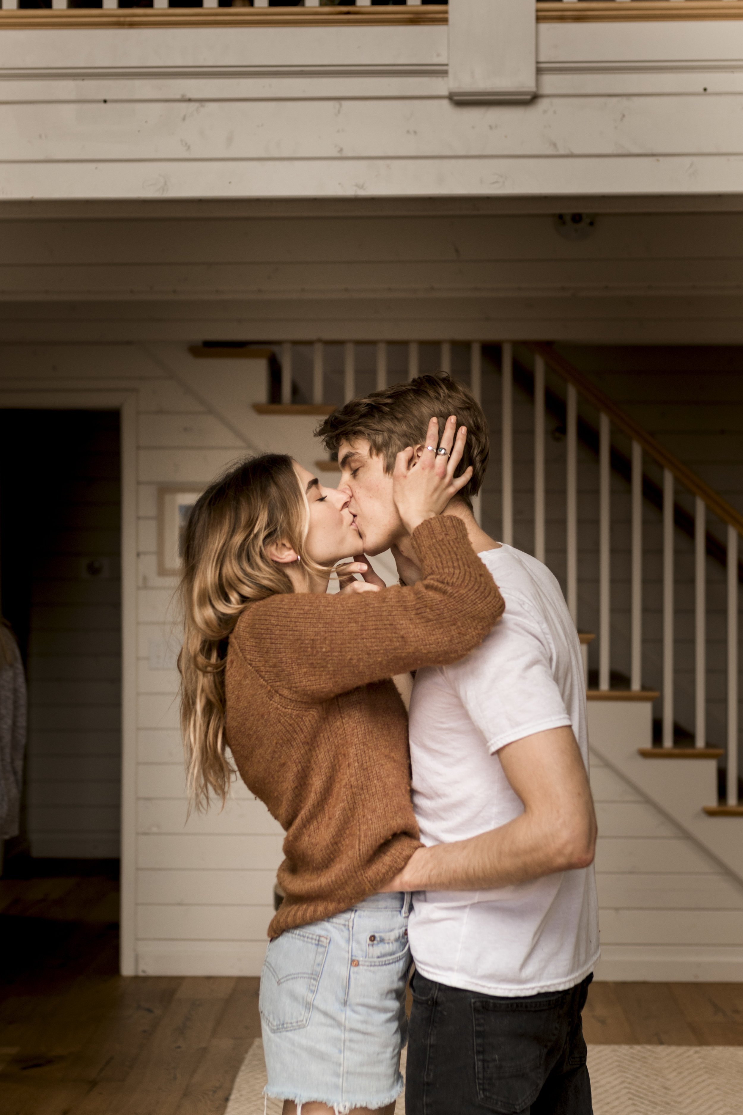 Utah in home couples session in a cute little A Frame Cabin by Bri Bergman Photography11.JPG