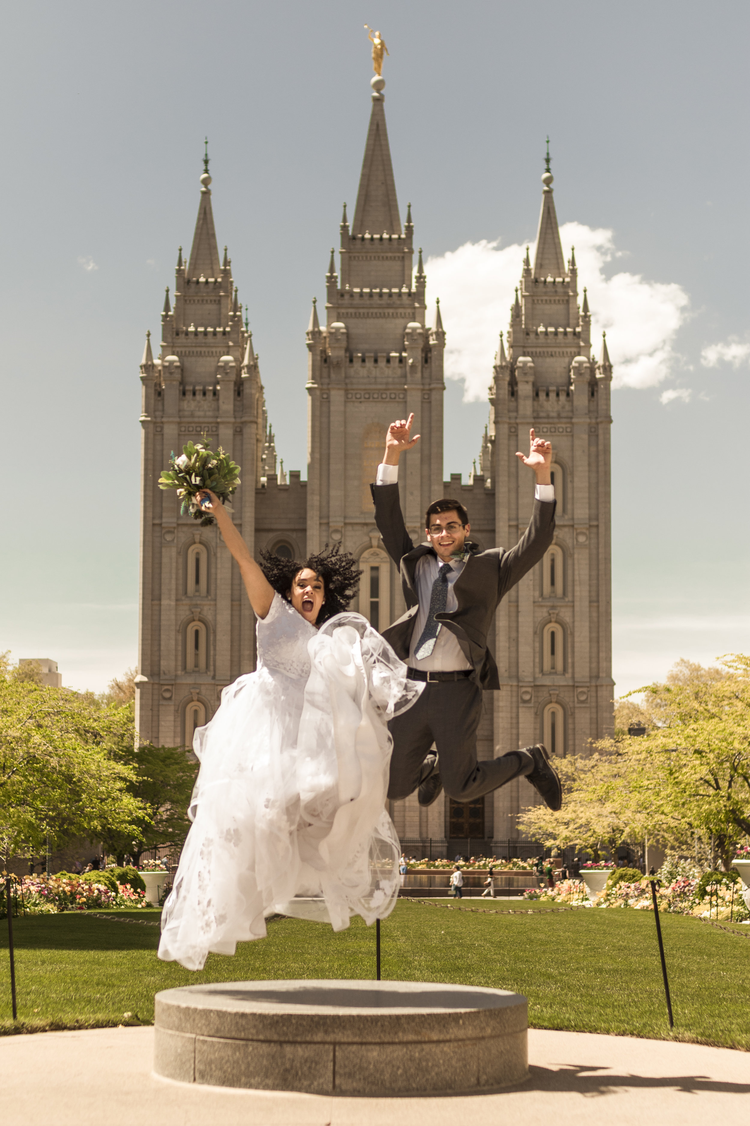 Gateway Bridal Bride at the Salt Lake Temple by Bri Bergman Photography