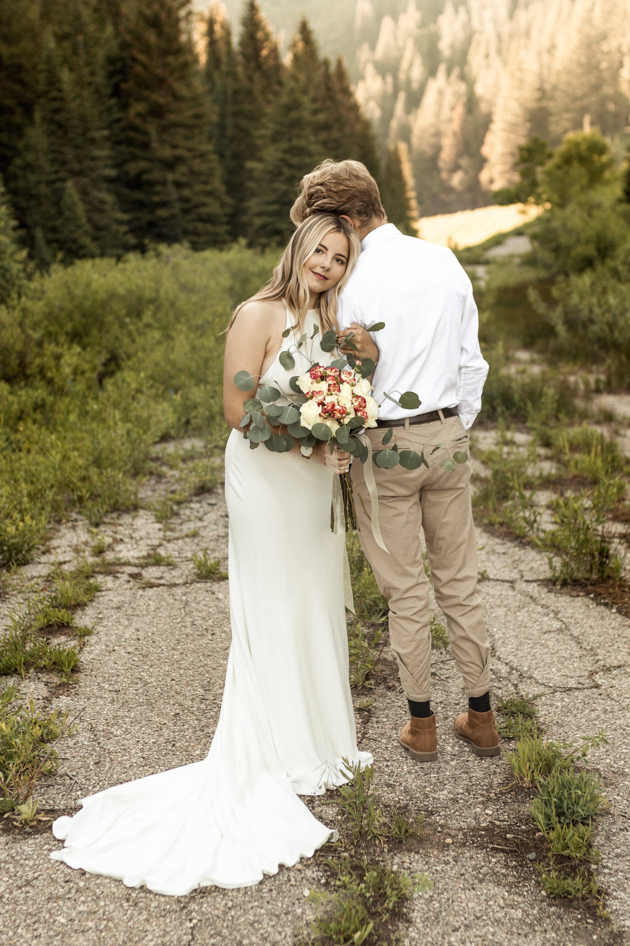 Mountain Bride in a Gateway Bridal gown by Bri Bergman Photography