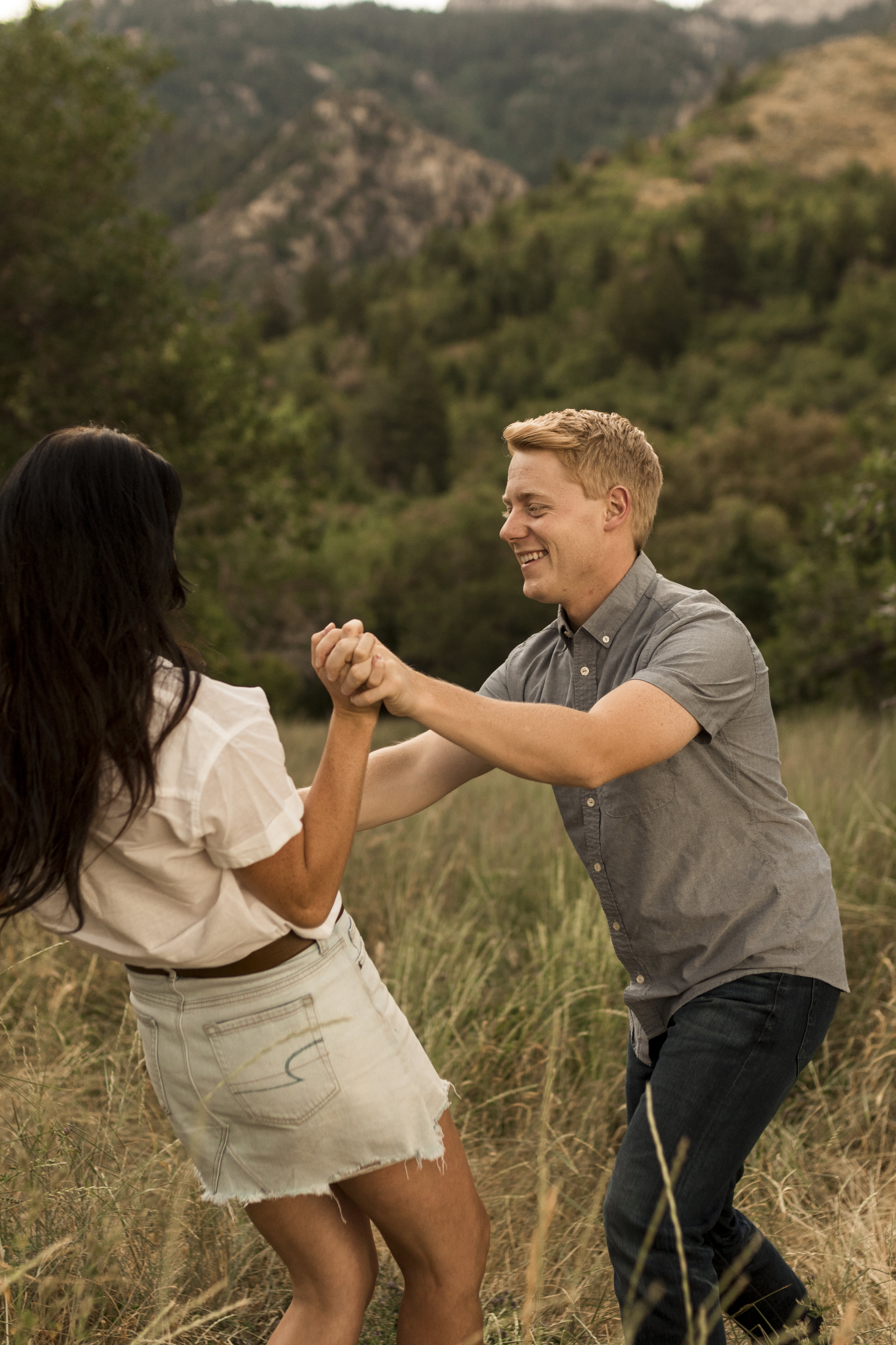 Cute Utah couples session in the sage brush by Bri Bergman Photography