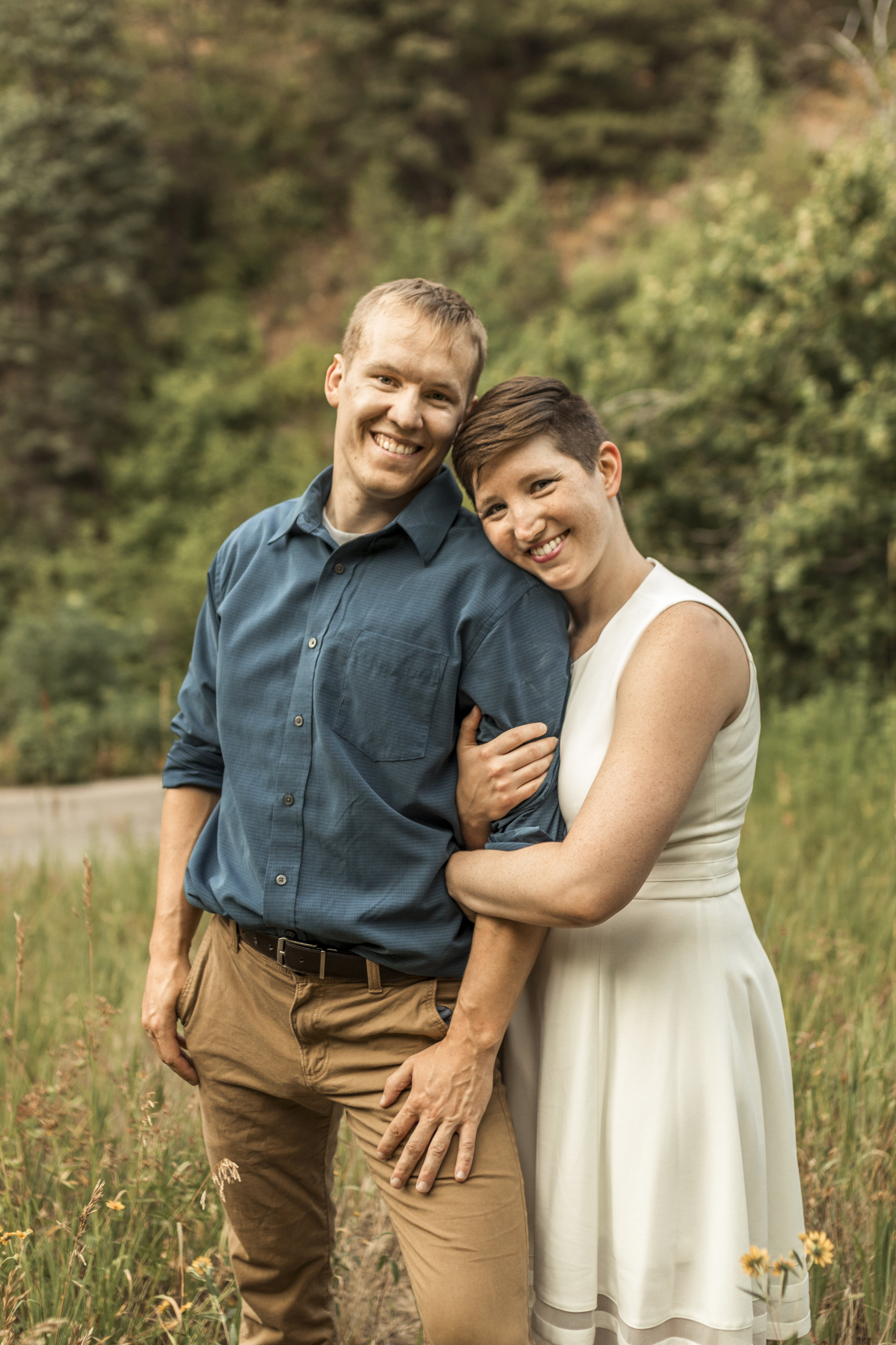 Utah summer engagement session in Millcreek Canyon by Bri Bergman Photography