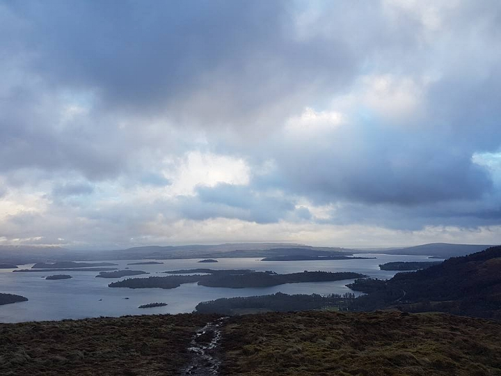 View over Loch Lomond featuring a very soggy trail
