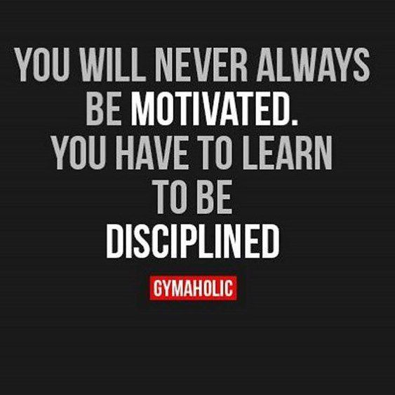Gymaholic are one of my favourite sites to follow on Pinterest and Instagram. This one relates to me on so many levels especially in the gym, on my cut earlier in the year motivation lacked but with the focus on an end goal my discipline kicked in and pushed me forward. It is an important one to remember at any point of life, discipline is KEY.