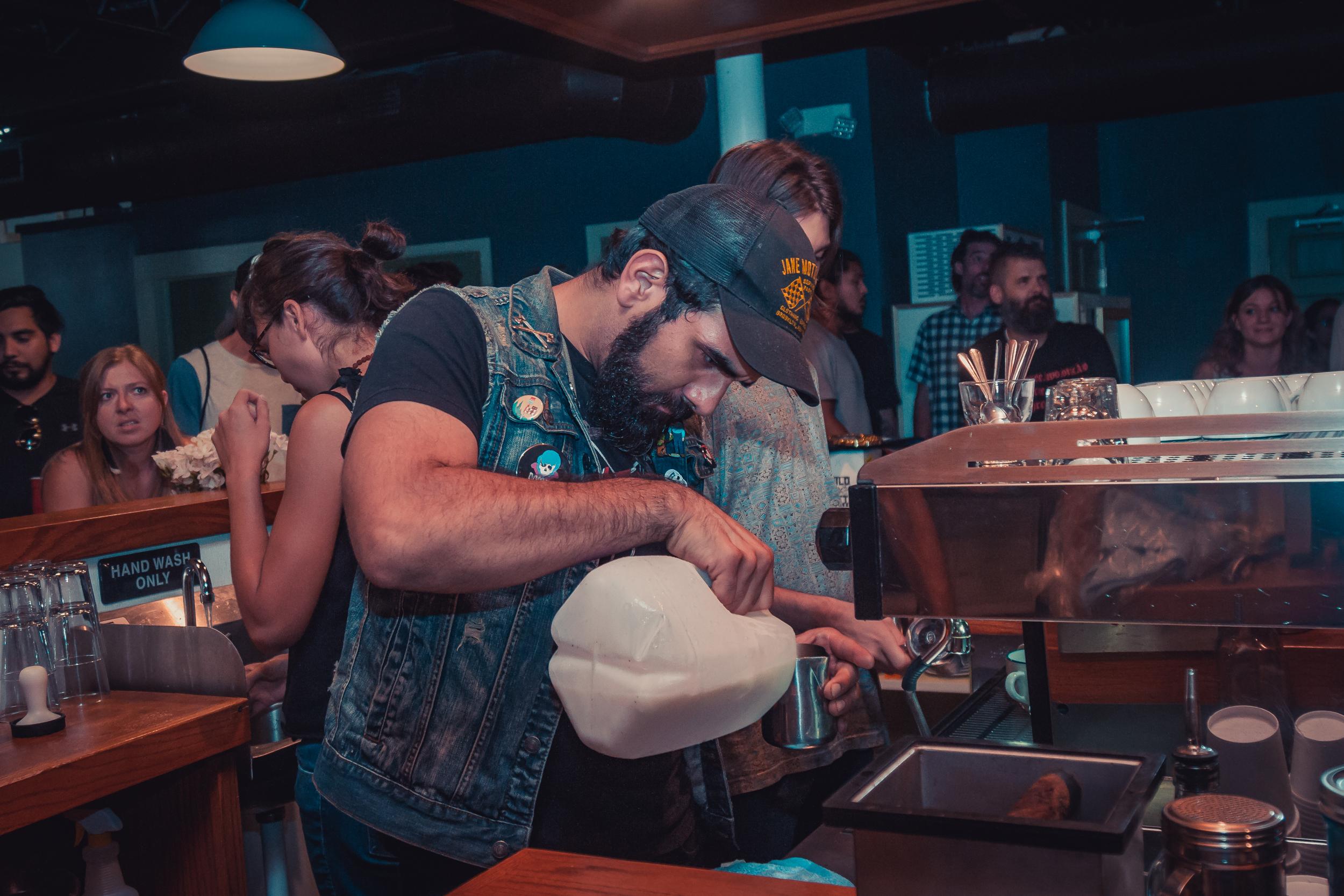 Barrets roasters, Austin TXJuly 28th, 2017 - Latte art throwdown