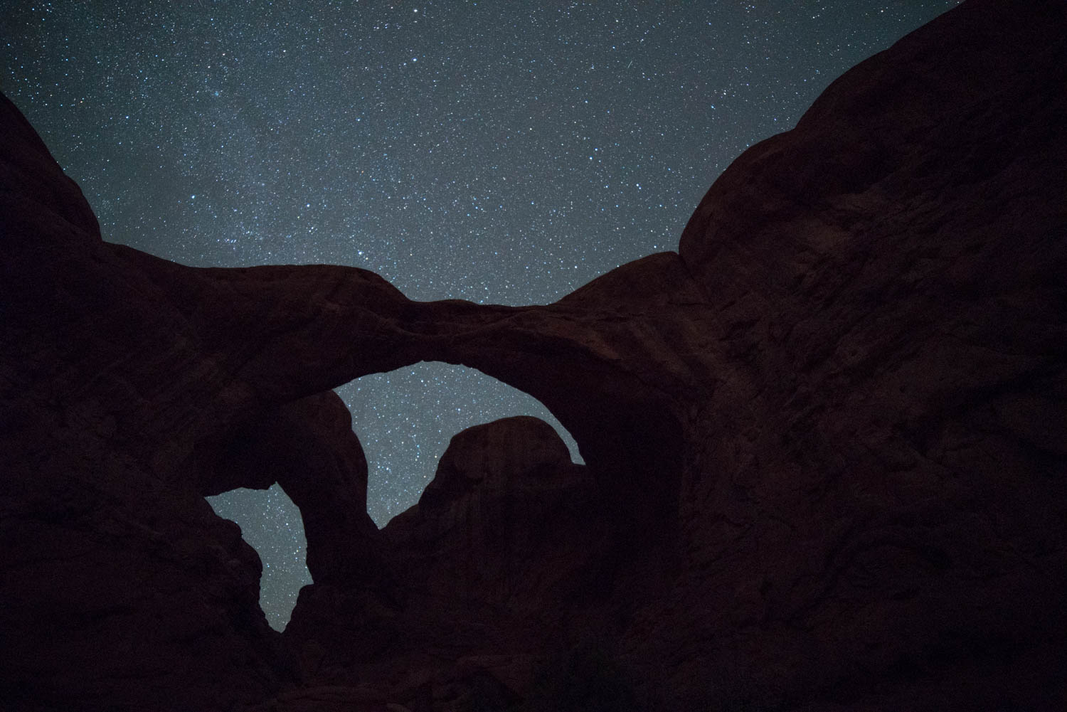 Double Arch on a Starry Night.