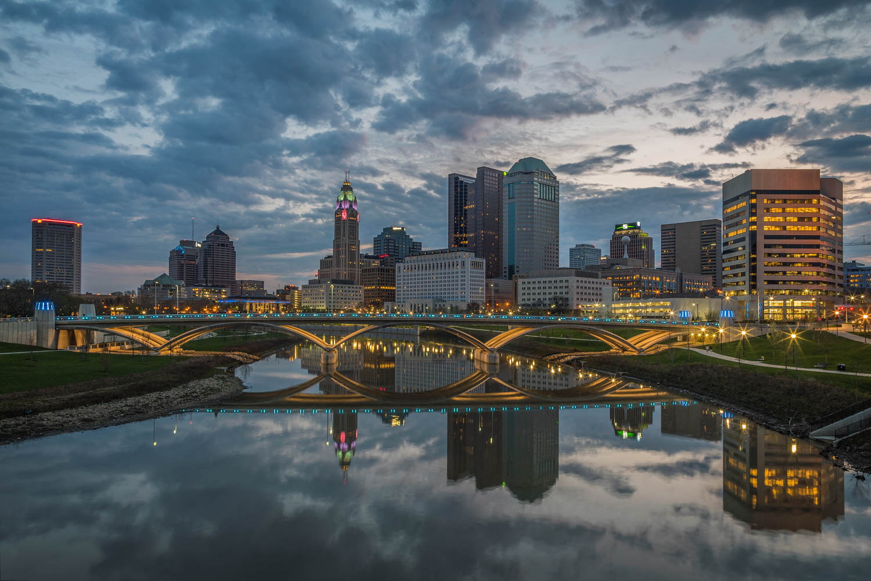 Early Sunrise over Columbus