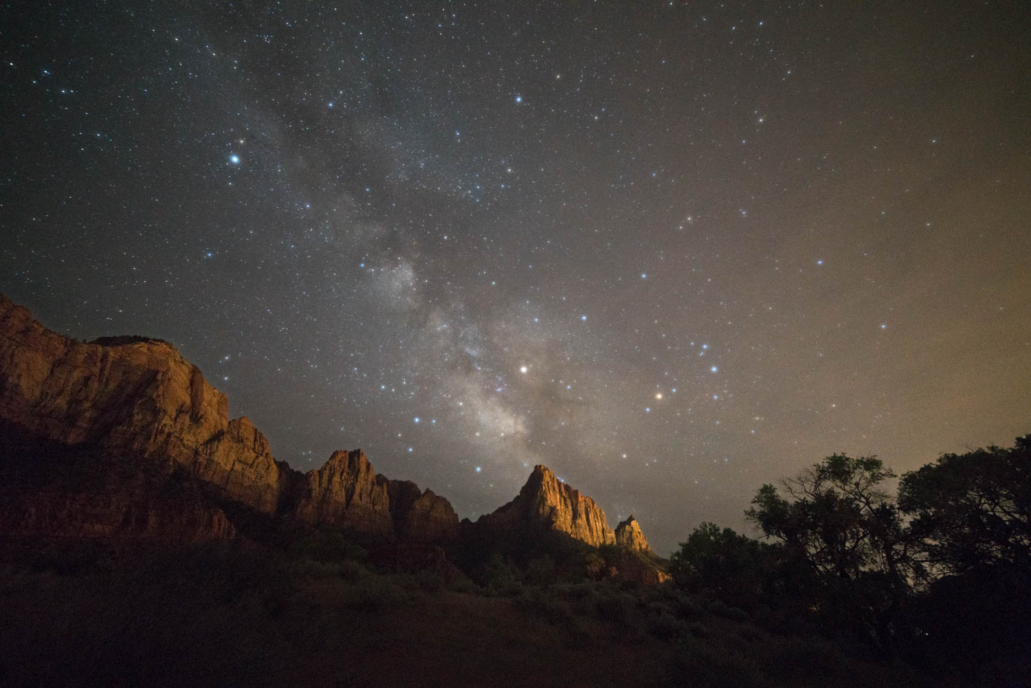 Galactic Center over Watchman