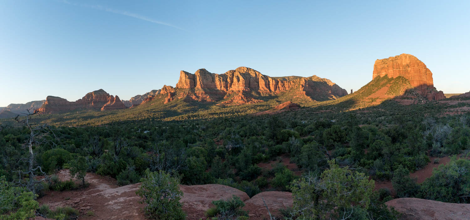 Courthouse Rock in Warm Light.