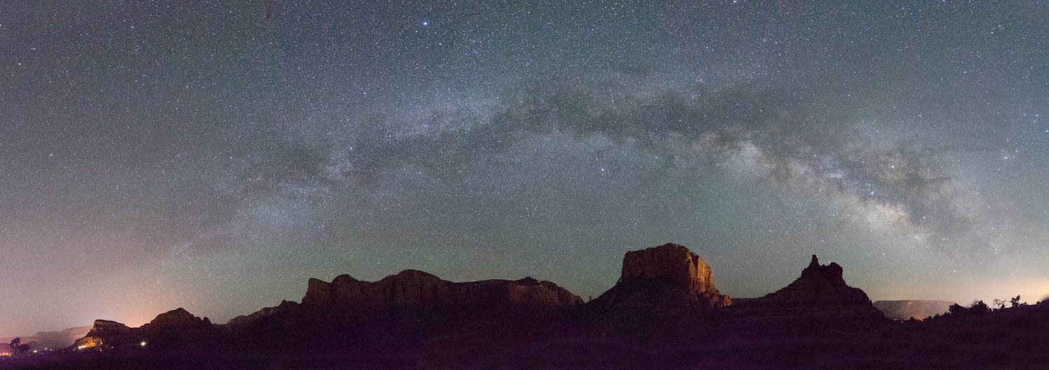 Courthouse Rock and Bell Rock Milky Way