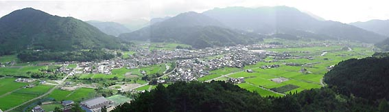 Panoramic view of Kamo-Cho.