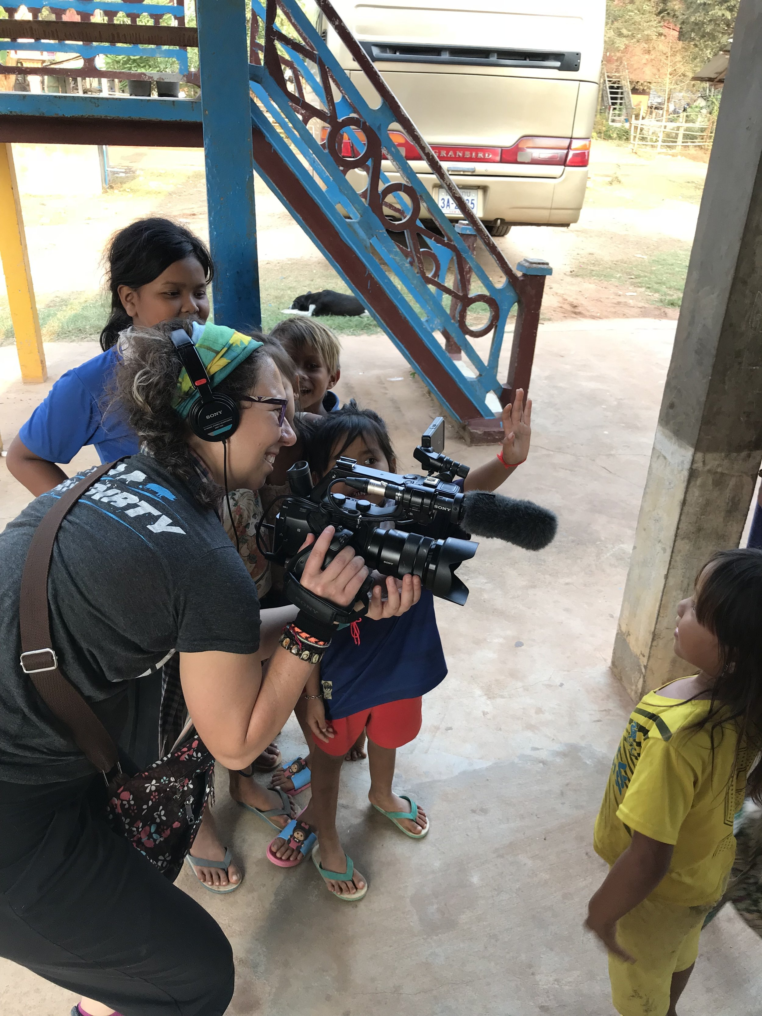 Teaching children in Cambodia the art of filmmaking