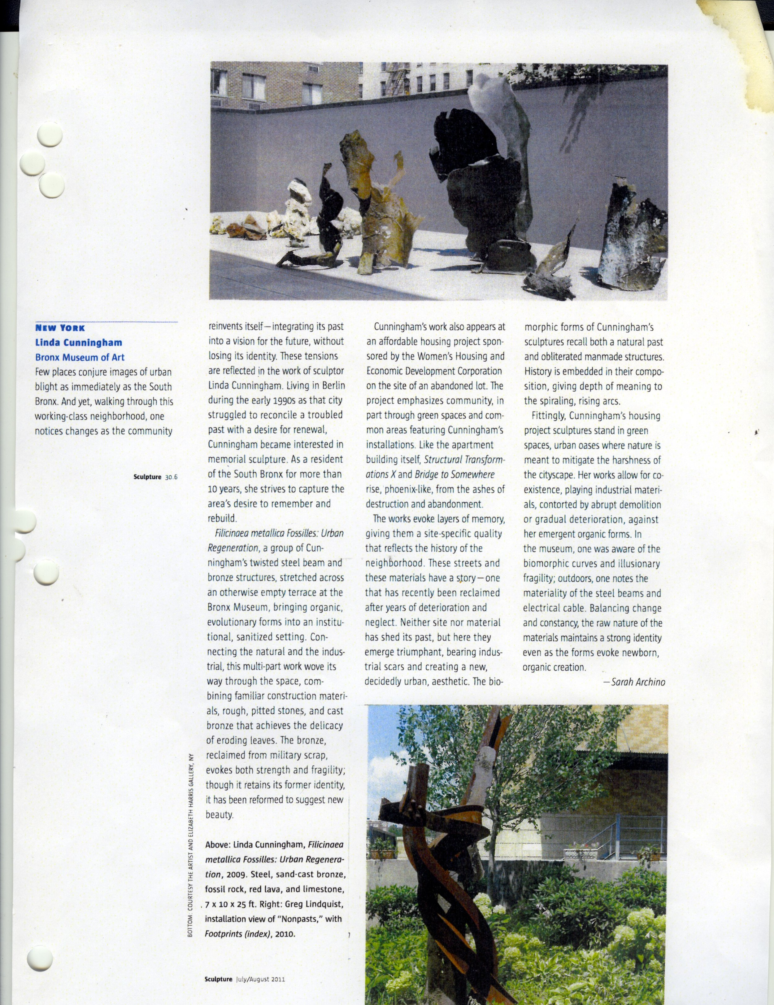 SCULPTURE MAGAZINE JULY/AUGUST 20111