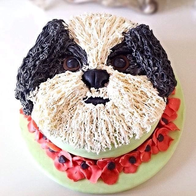 Poppy Lhasa Apso Cake