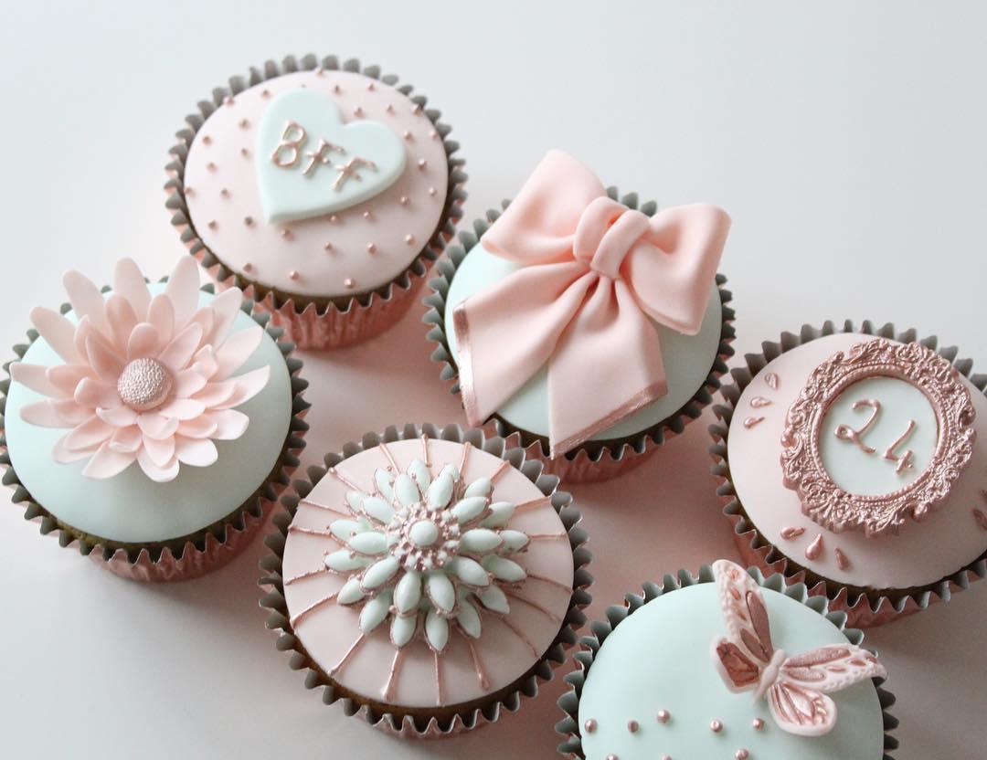 Pastel & Rose Gold Cupcakes
