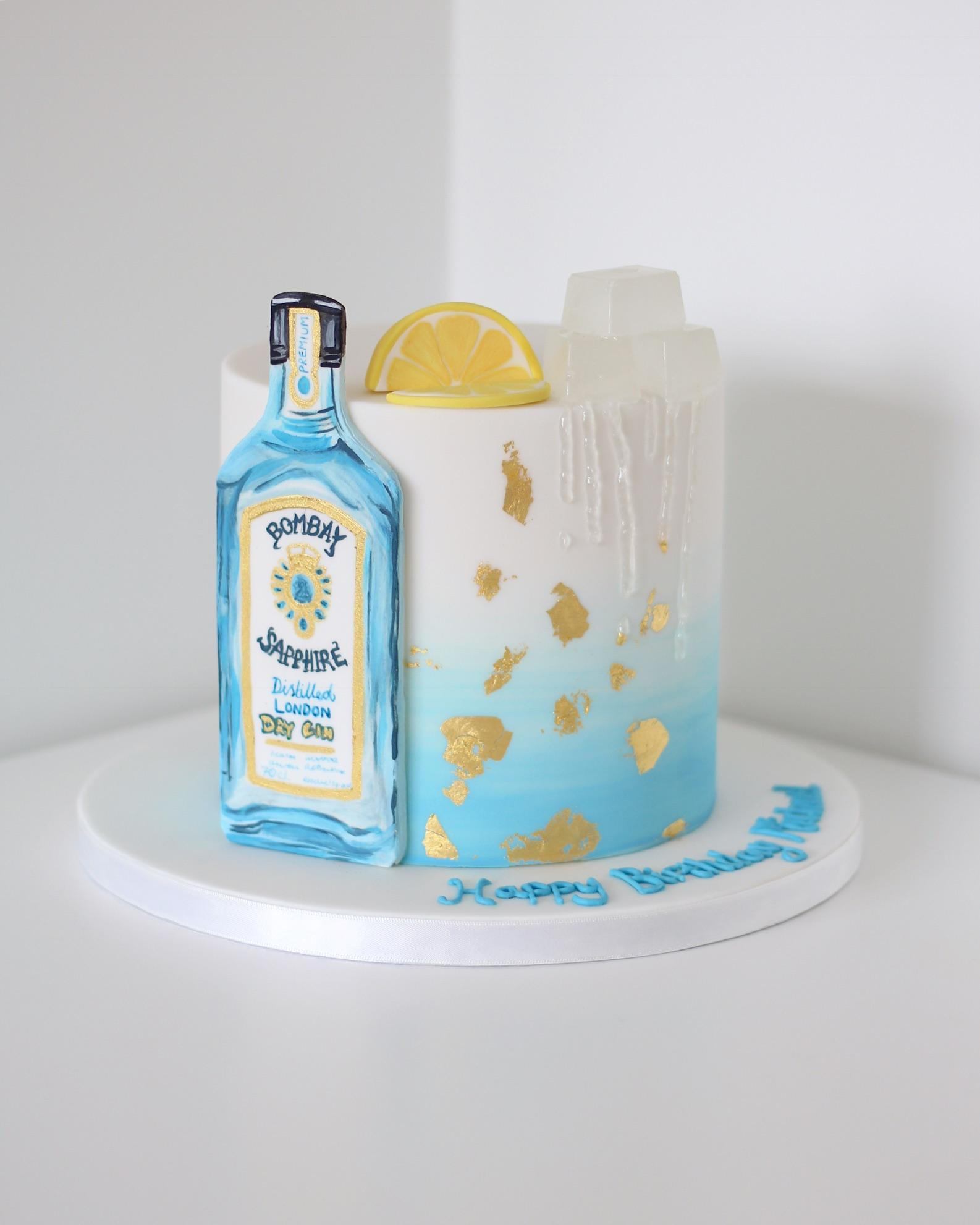 Gin & tonic birthday cake