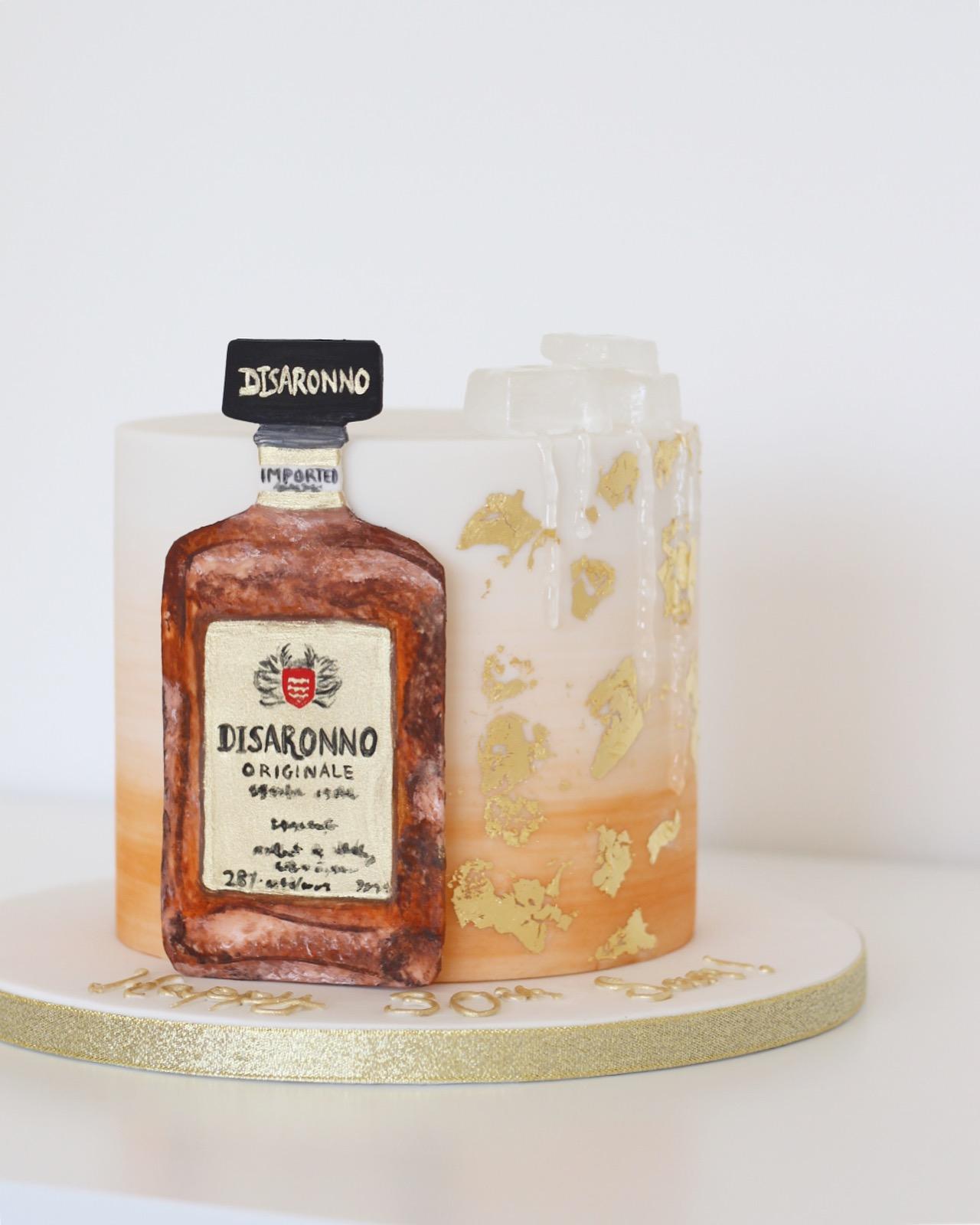 Disaronno Birthday Cake