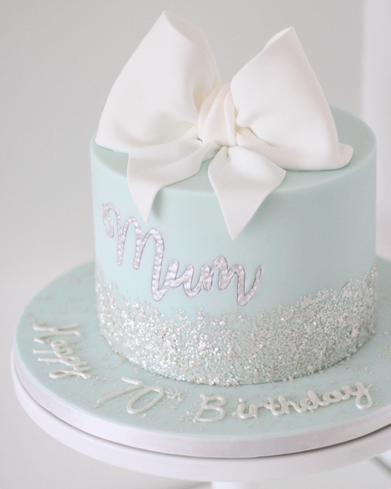 Tiffany 70th Birthday Cake