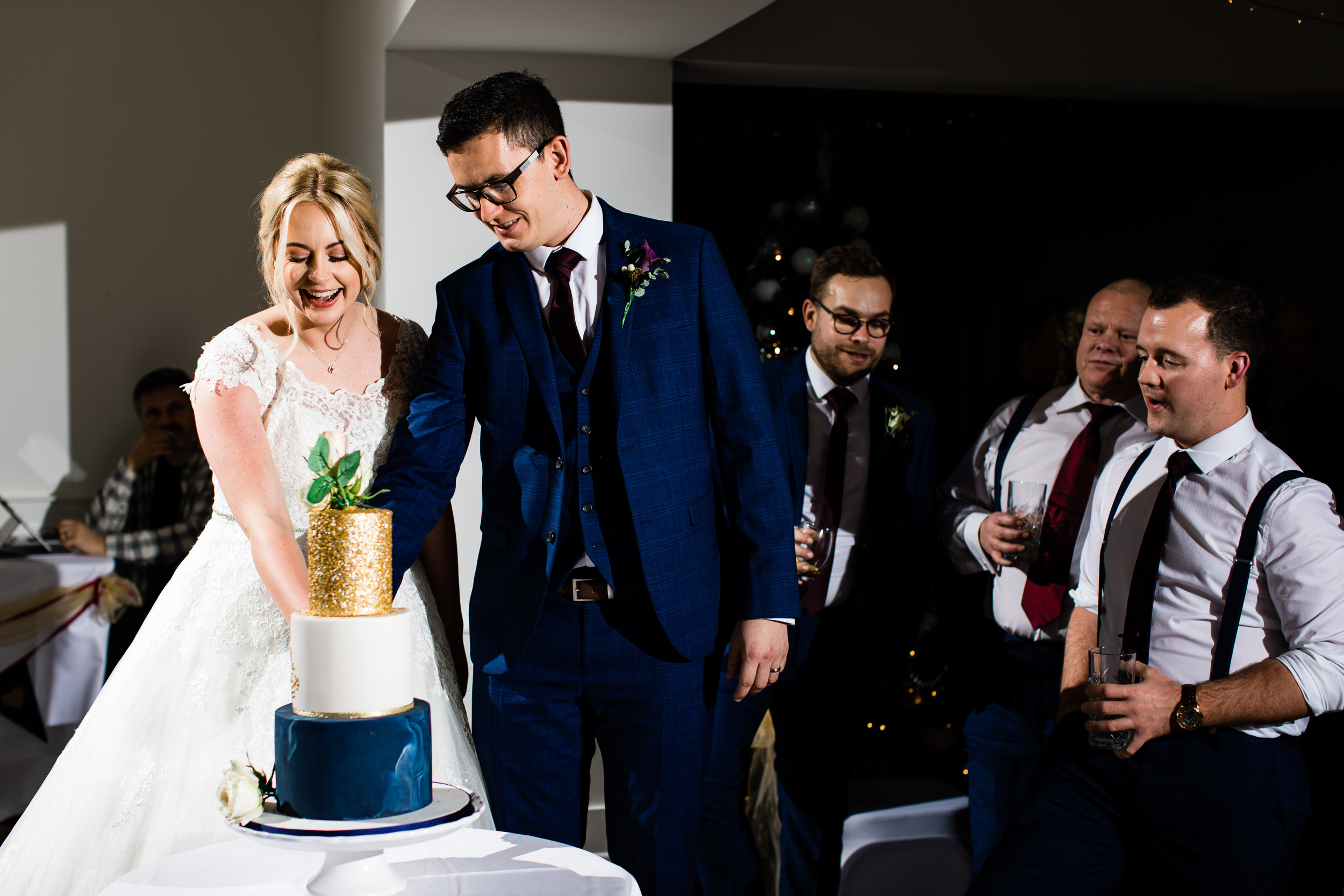 "Chloe & Luke - ""Lucy, I can't thank you enough for all of your help with our incredible cake. It was simply amazing, everyone loved it.""Chichester Harbour Hotel, December 2018"