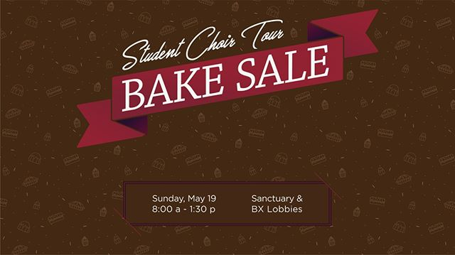 Come enjoy some yummy baked goods and support our Student Choir! Stop by in any lobby on May 19th and pick up your favorite baked treat! @brainerdstudents