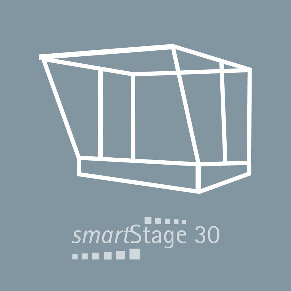 smartStage 30 - 30 qm Bühnenfläche6.00 m Breite4.95 m Tiefe4.80 m Höhe