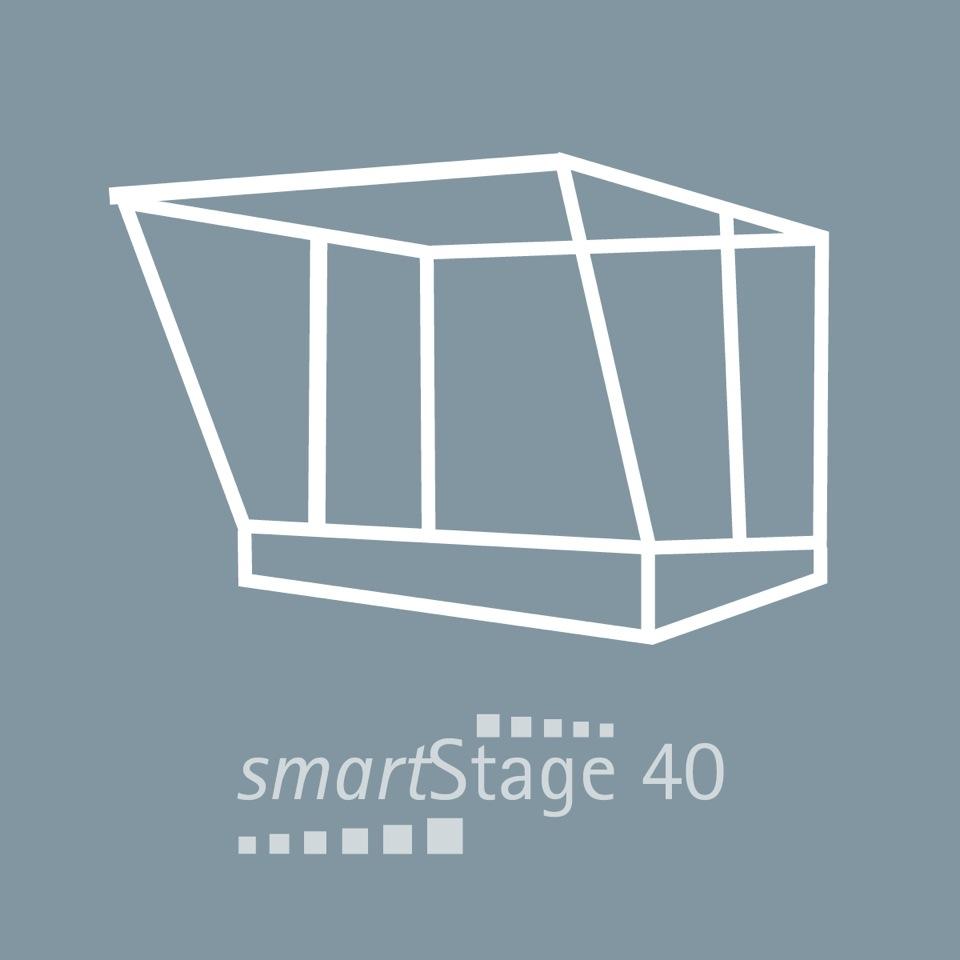 smartStage 40 - 40 qm Bühnenfläche8.00 m Breite5.00 m Tiefe4.80 m Höhe
