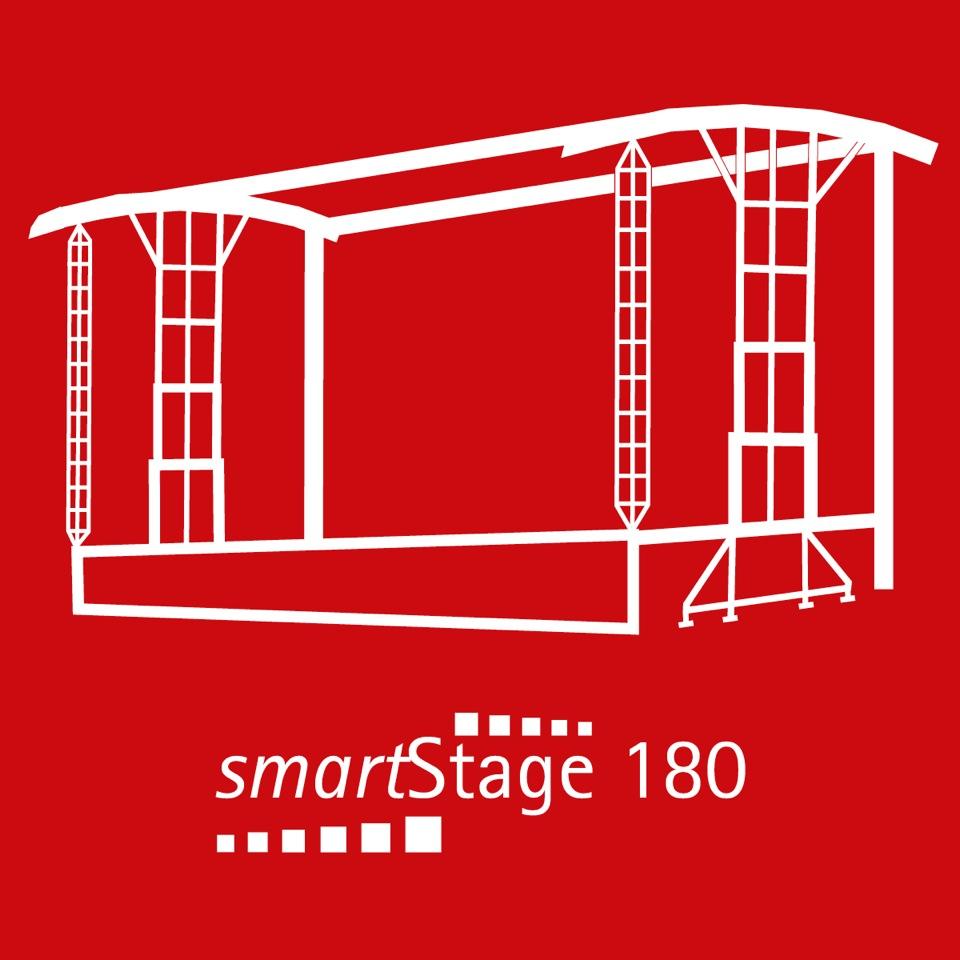 smartStage 180 - 163 qm Bühnenfläche14.20 m Breite11.55 m Tiefe10.00 m Höhe