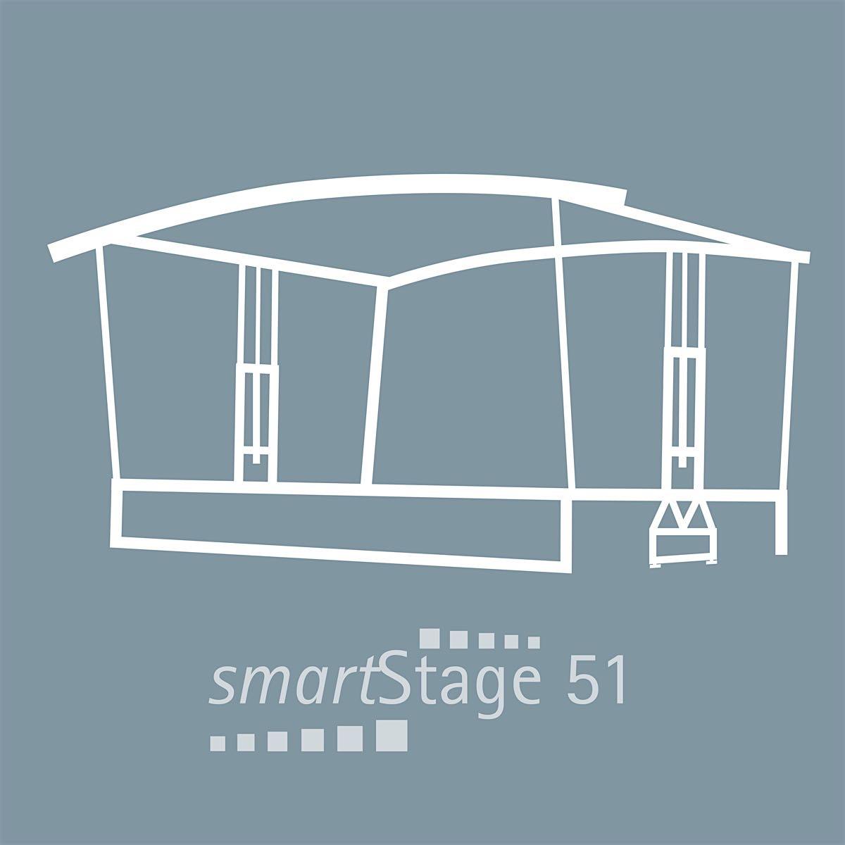 smartStage 51 - 49 qm area8.00 m Width6.20 m Depth4.95 m Height [5.30m]