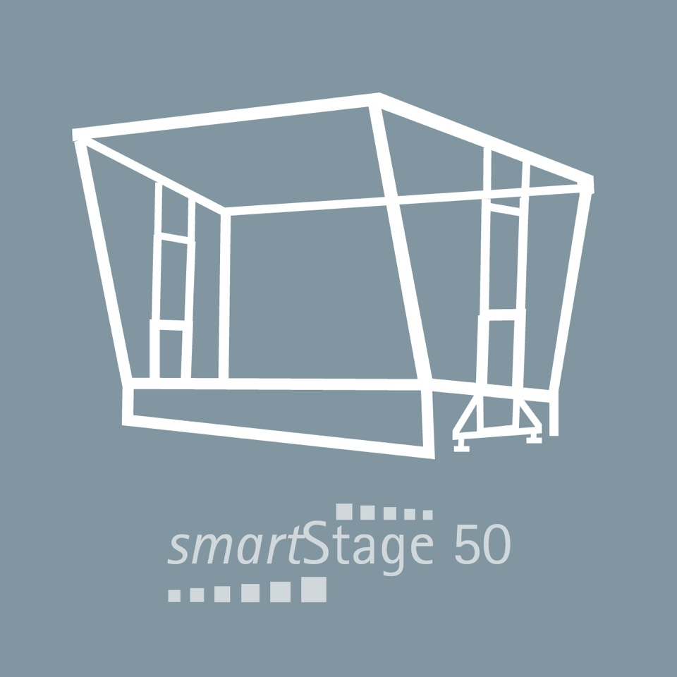 smartStage 50 - 49 qm Bühnenfläche8.00 m Breite6.20 m Tiefe4.99 m Höhe [5.90m]