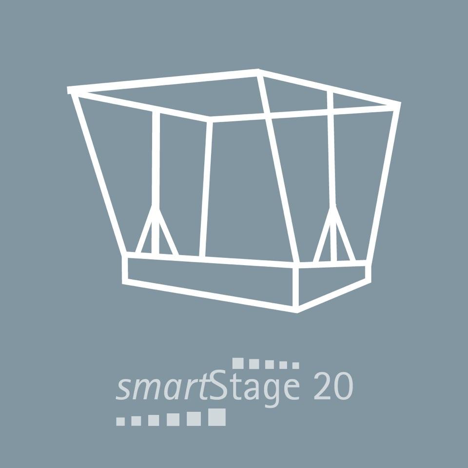 smartStage 20 - 21 qm Bühnenfläche4,95 m Breite4,20 m Tiefe4.20 m Höhe