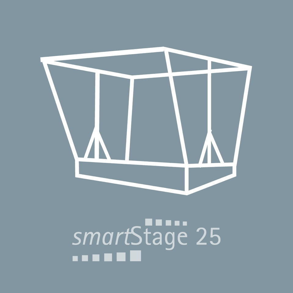smartStage 25 - 25 qm area5.95 m ancho4.00 m profundida4.28 m altura