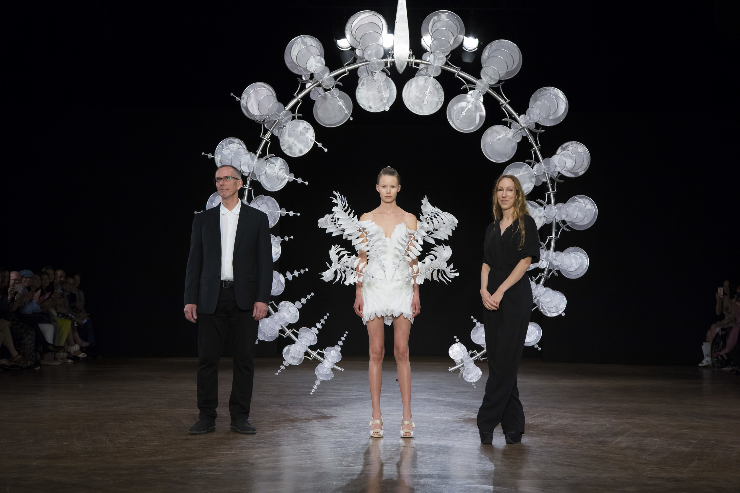 Anthony Howe collaborates with iris van herpen for her fall 2019 haute couture fashion show in paris -