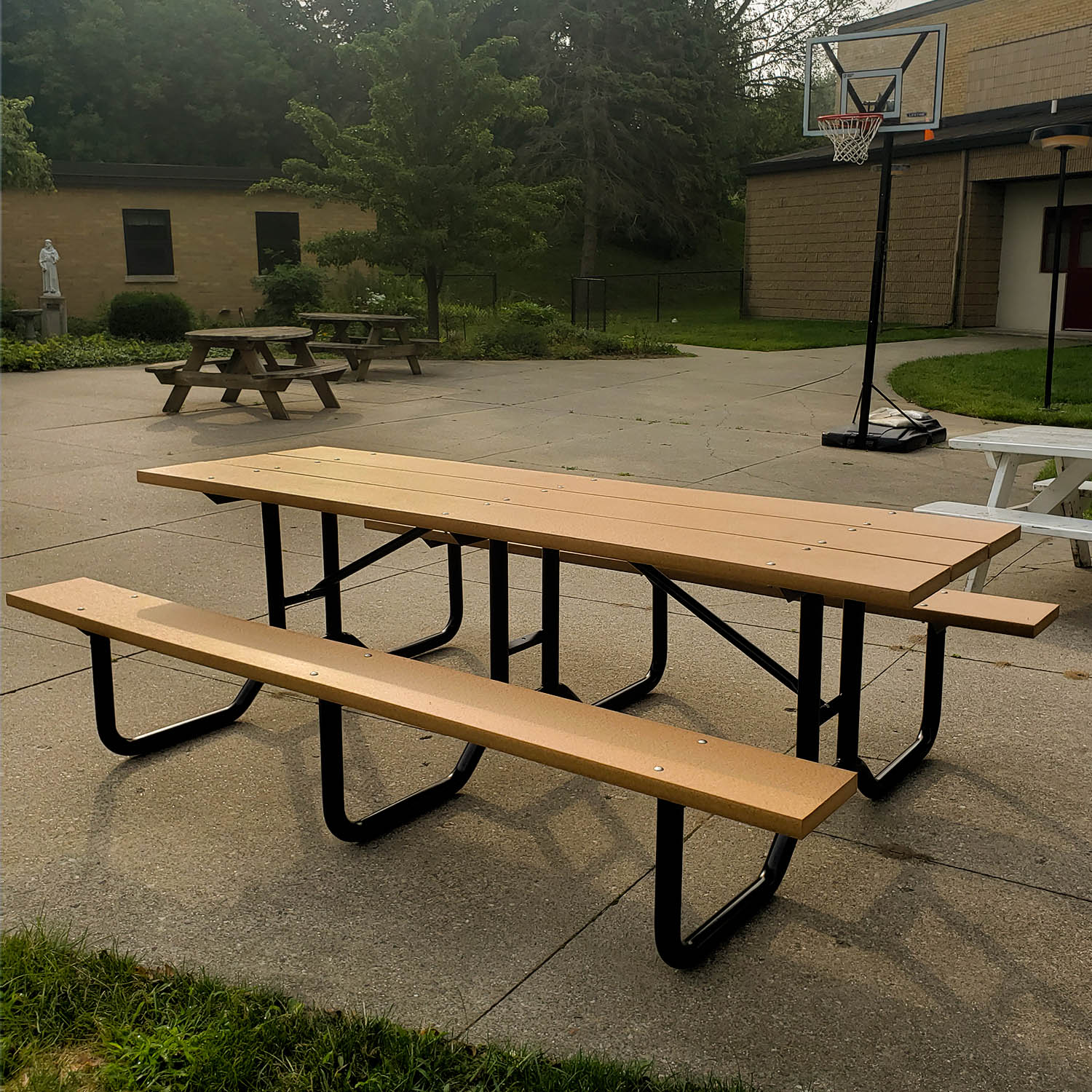 8' Steel Frame Picnic Table | Advantage Outdoor Products