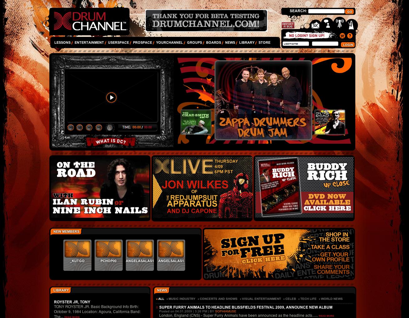 Website Mockups